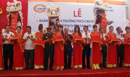 Khánh thành trường THCS xã Cao Minh (Vĩnh Bảo)