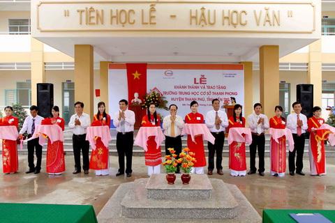 Công ty Him Lam tổ chức khánh thành và trao tặng Trường THCS Thạnh Phong…