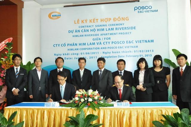 Dự án Himlamriverside: Công ty POSCO E & C Việt Nam được chọn làm nhà thầu xây d…