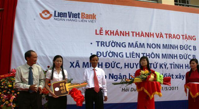 Khánh thành Trường Mầm non và đường liên thôn do Ngân hàng Liên Việt tài trợ tại…