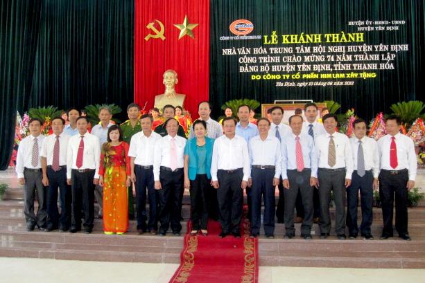 Khánh thành Nhà Văn hóa trung tâm hội nghị huyện Yên Định tỉnh Thanh Hoá