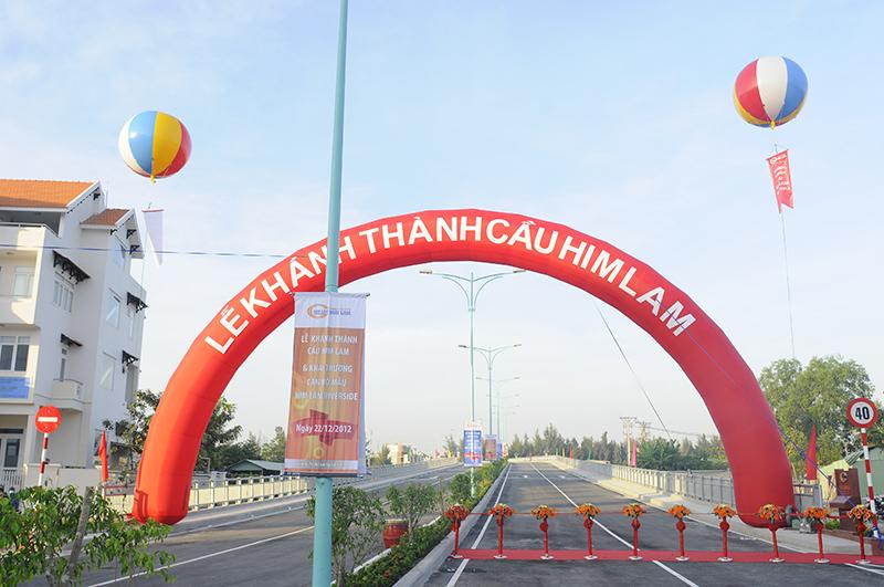 Phim Lễ thông xe cầu Him Lam & khai trương căn hộ mẫu Him Lam Riverside (22/12)